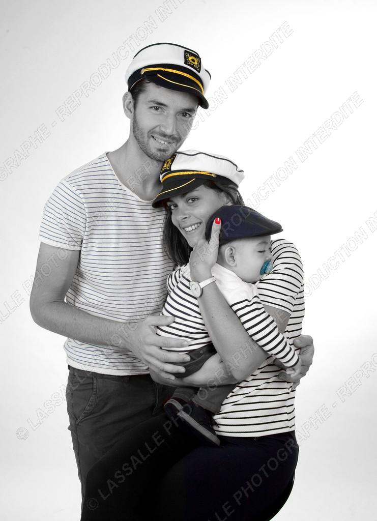 Famille en noir et blanc