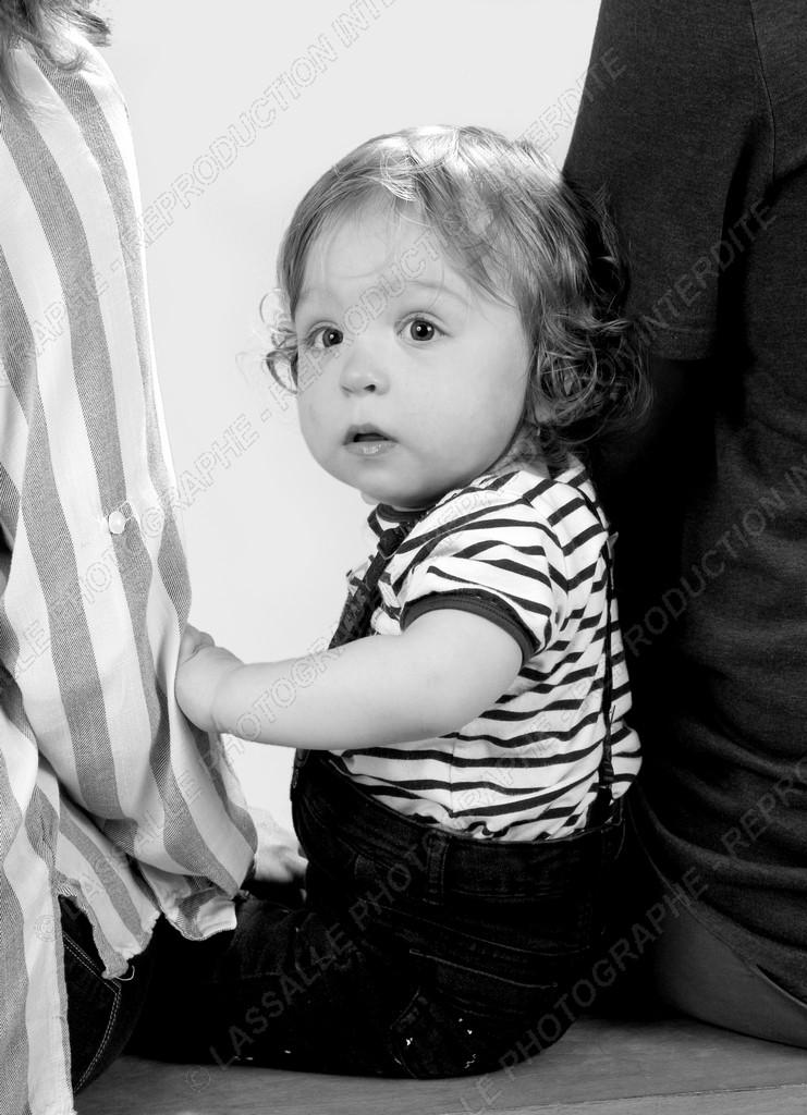 Photo de bébé en studio