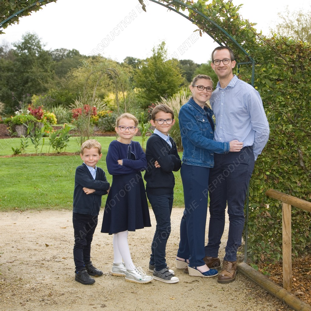 Photo de famille au parc