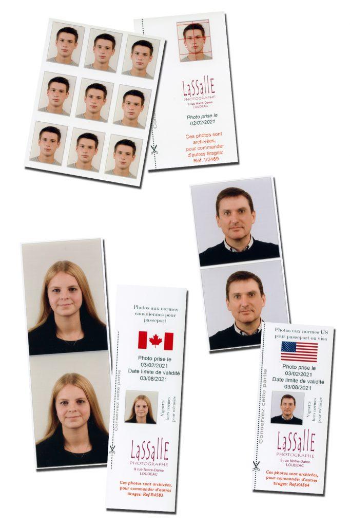 Photos d'identité aux normes américaines ou canadiennes ou indiennes